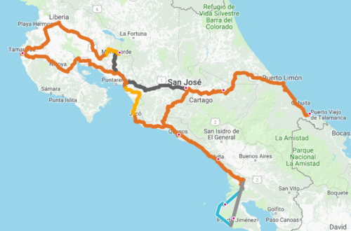 Reisroute-CostaRica
