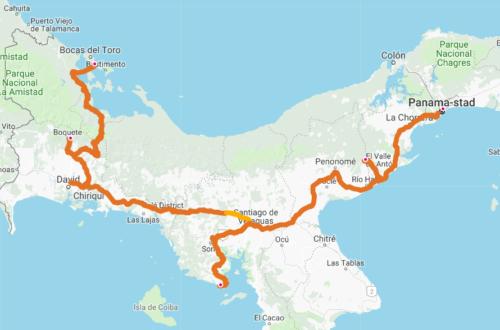 Route door Panama